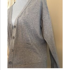A new day gray cardigan with pockets size medium